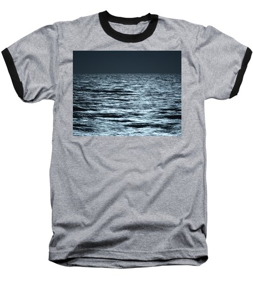 Moonlight On The Ocean Baseball T-Shirt by Nancy Landry