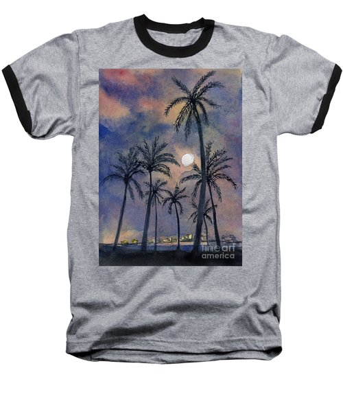 Moonlight Over Key West Baseball T-Shirt