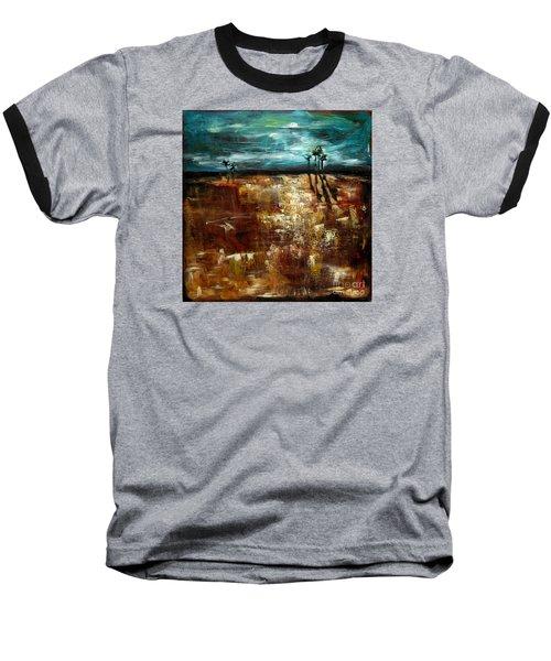 Moonlight Over The Marsh Baseball T-Shirt