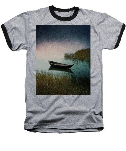 Moonlight Paddle Baseball T-Shirt by Brooke T Ryan