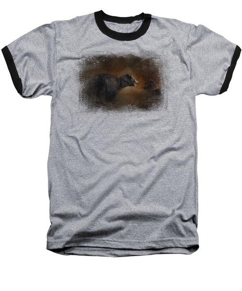 Moonlight Run Baseball T-Shirt by Jai Johnson