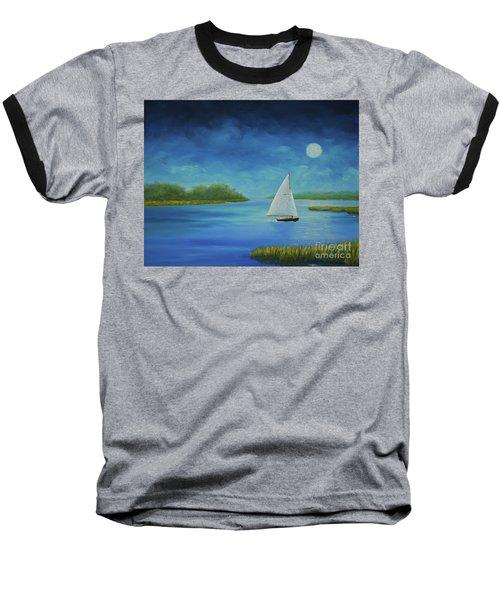 Moonlight Sail Baseball T-Shirt