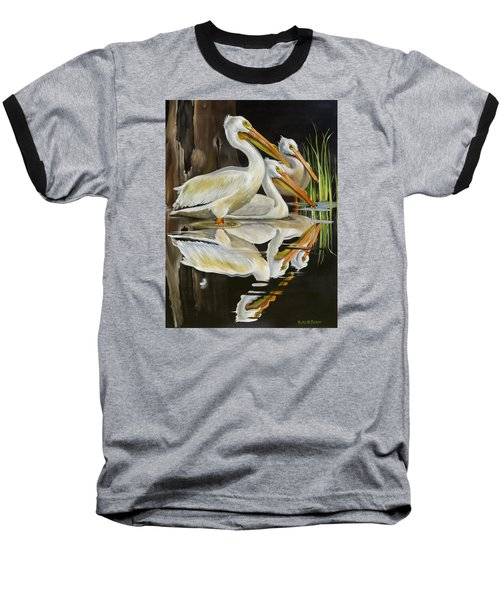 Baseball T-Shirt featuring the painting Moonlight Serenade by Phyllis Beiser