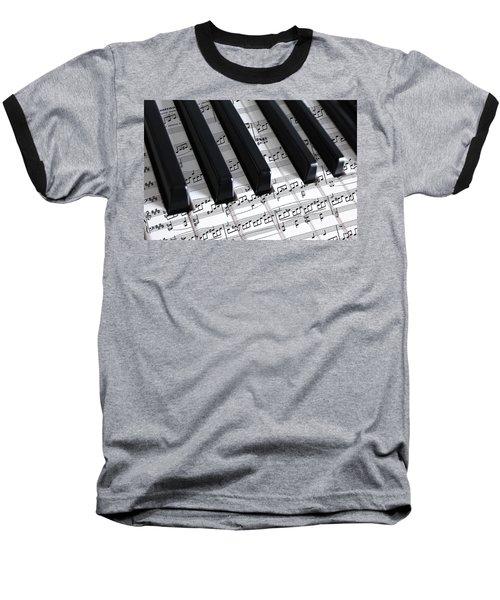 Moonlight Sonata Baseball T-Shirt by Iryna Goodall