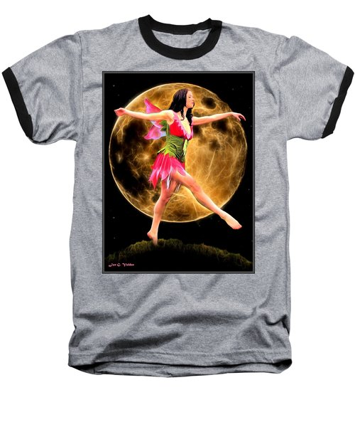 Moonlight Stroll Of A Fairy Baseball T-Shirt