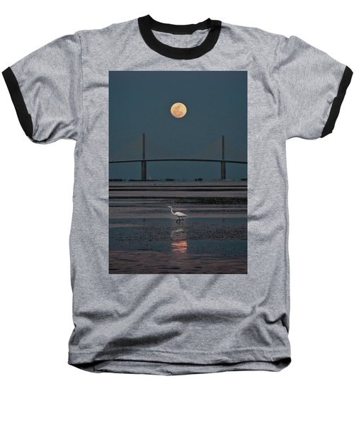 Moonlight Stroll Baseball T-Shirt by Steven Sparks