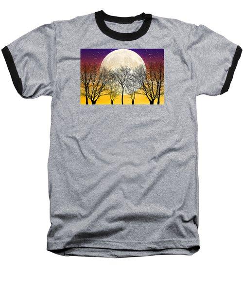 Moonlight Baseball T-Shirt by Swank Photography