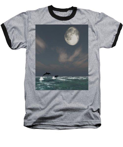 Moonlight Swim Baseball T-Shirt