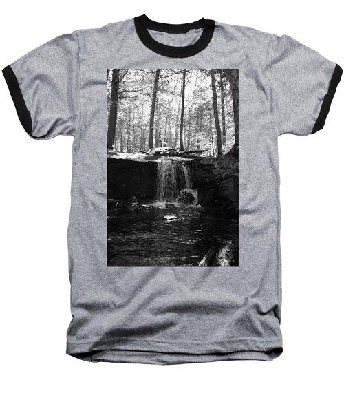 Moonlight Waterfall Baseball T-Shirt