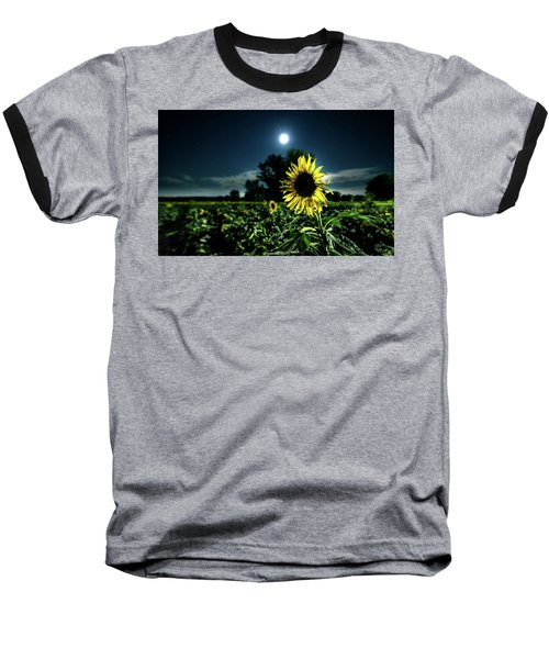 Baseball T-Shirt featuring the photograph Moonlighting Sunflower by Everet Regal