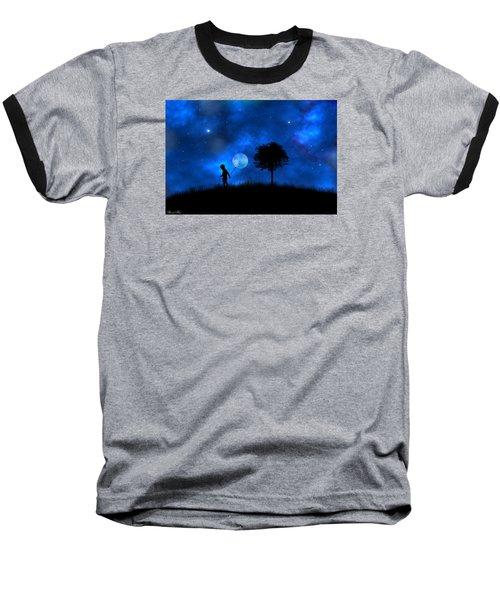 Baseball T-Shirt featuring the digital art Moonlight Shadow by Bernd Hau