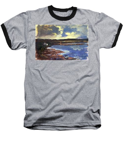Moonlit Beach Baseball T-Shirt