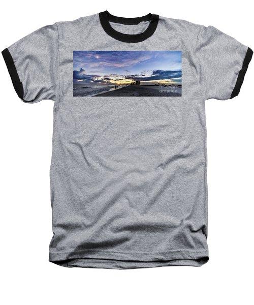 Moonlit Beach Sunset Seascape 0272c Baseball T-Shirt