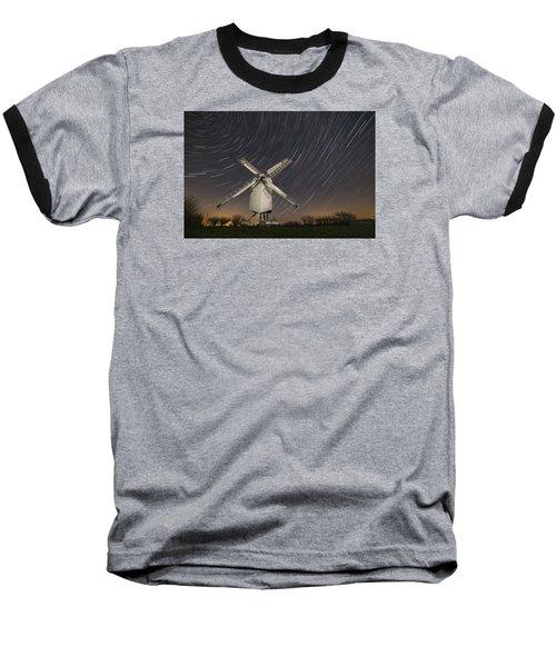 Moonlit Chillenden Windmill Baseball T-Shirt