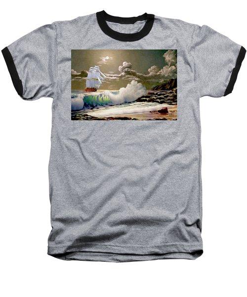 Moonlit Clipper Baseball T-Shirt