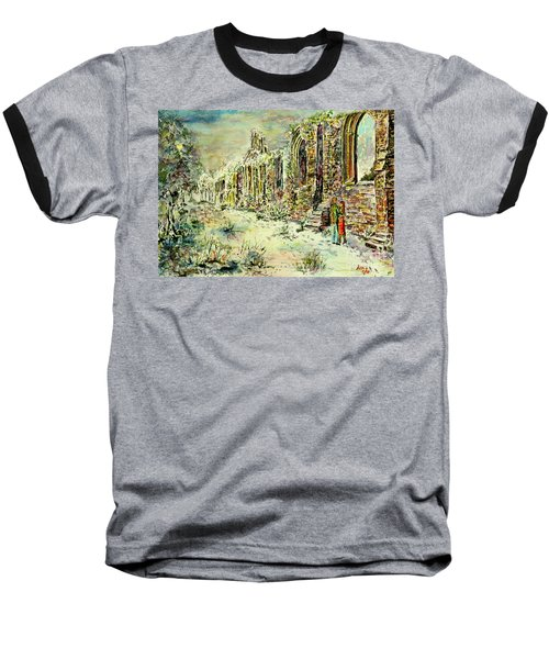 Moonlit Footsteps On Holy Ground Baseball T-Shirt by Alfred Motzer
