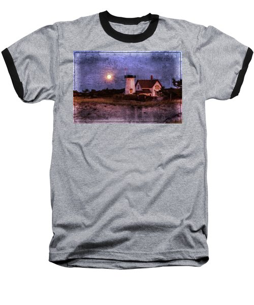Moonlit Harbor Baseball T-Shirt