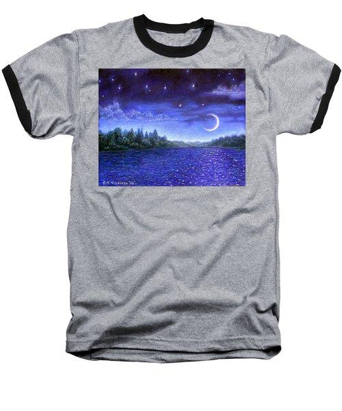 Moonlit Lake Baseball T-Shirt