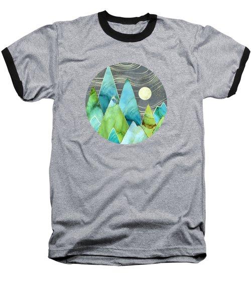 Moonlit Mountains Baseball T-Shirt