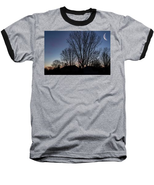 Moonlit Sunrise Baseball T-Shirt