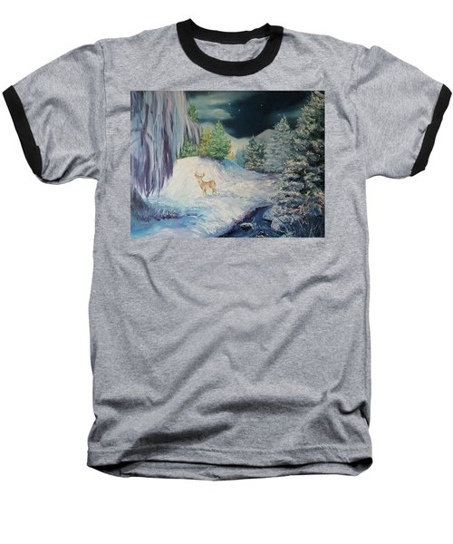 Moonlit Surprise Baseball T-Shirt
