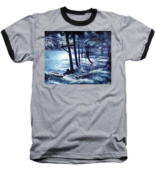 Moonlite On Village Creek Baseball T-Shirt