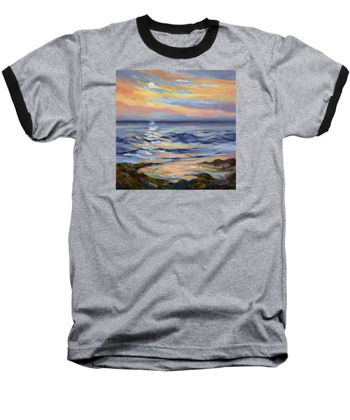 Moonrise At Cabrillo Beach Baseball T-Shirt by Jane Thorpe