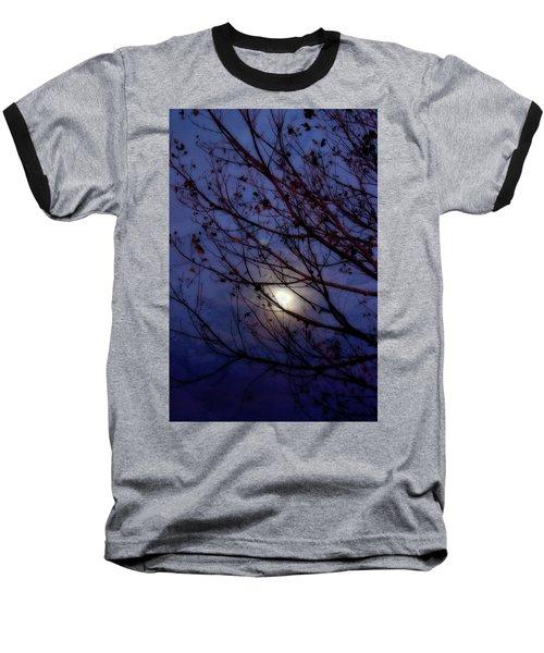 Baseball T-Shirt featuring the photograph Moonrise by Ellen Heaverlo