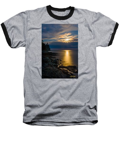 Moonrise From The Cloudbank Baseball T-Shirt
