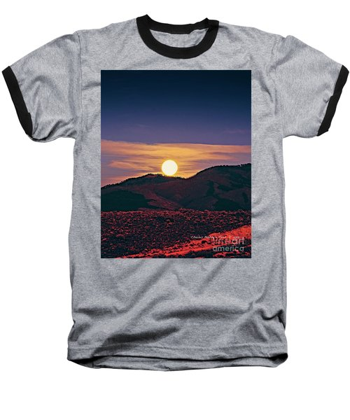 Moonrise In Northern New Mexico  Baseball T-Shirt