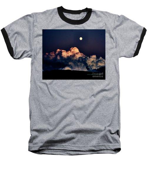 Moonrise In Taos Baseball T-Shirt