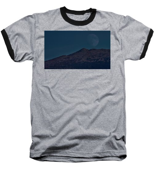 Moonrise Mount Adams Baseball T-Shirt