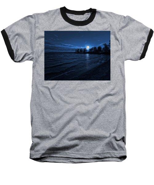Moonrise On The Beach Baseball T-Shirt