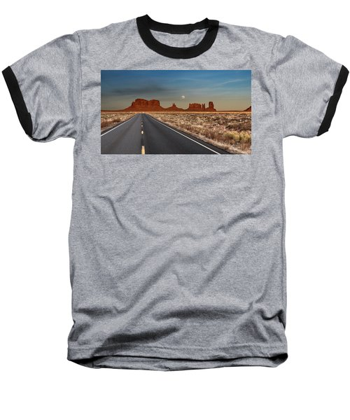 Moonrise Over Monument Valley Baseball T-Shirt