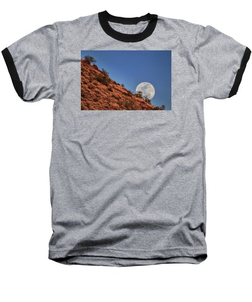 Moonrise Baseball T-Shirt by Rick Furmanek
