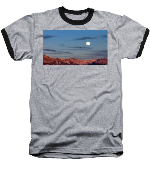 Moonrise With Afterglow Baseball T-Shirt
