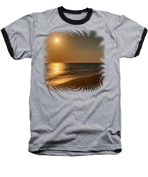 Moonscape 3 Baseball T-Shirt by John M Bailey