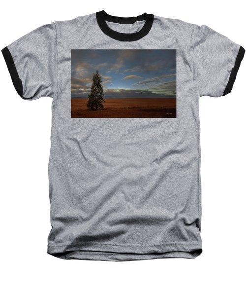 Moonset  In A Large Morning Sky Baseball T-Shirt