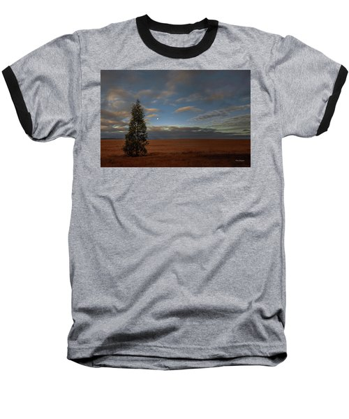 Moonset  In A Large Morning Sky Baseball T-Shirt