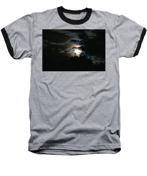 Moonset In The Clouds 2 Baseball T-Shirt