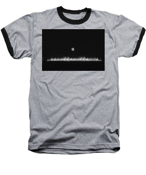 Baseball T-Shirt featuring the photograph Moonset Over Dia by Kristal Kraft