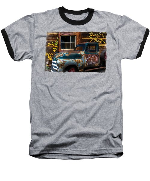Moonshine Express Bordered Baseball T-Shirt