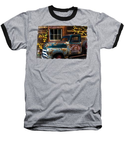 Moonshine Express Bordered Baseball T-Shirt