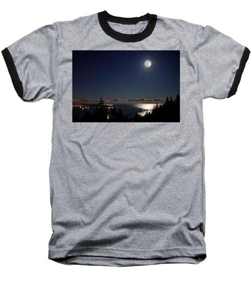 Moonshine Over English Bay Baseball T-Shirt