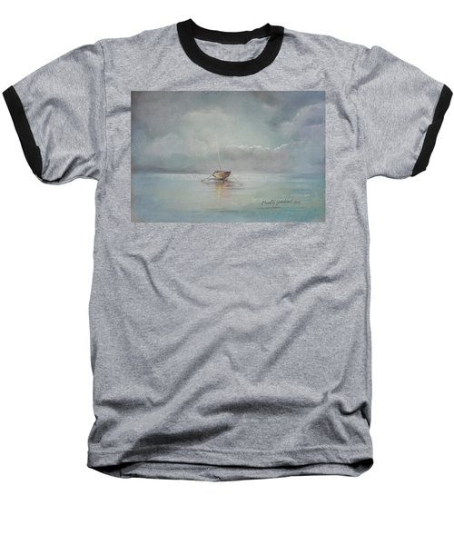 Moored Boat Baseball T-Shirt by Marty Garland