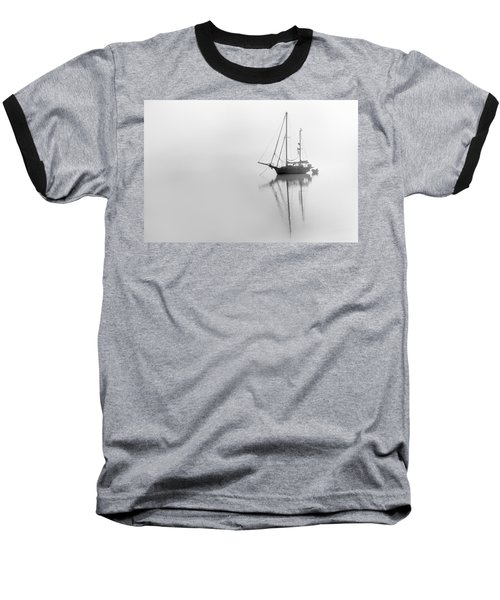 Moored On A Foggy Day Baseball T-Shirt
