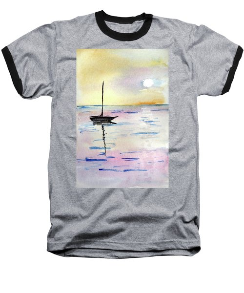 Moored Sailboat Baseball T-Shirt