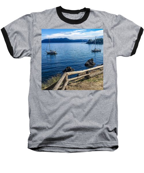 Mooring In Doe Bay Baseball T-Shirt by William Wyckoff