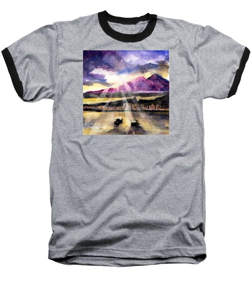 Mooring In Vancouver Tonight Baseball T-Shirt by Randy Sprout