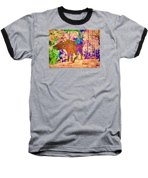 Moose Abstract Baseball T-Shirt